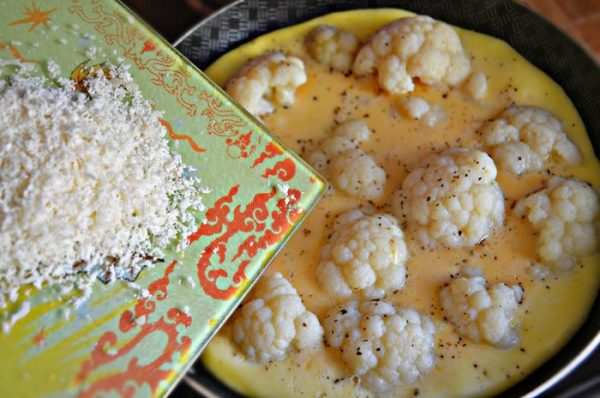 Омлет и тёртый сыр