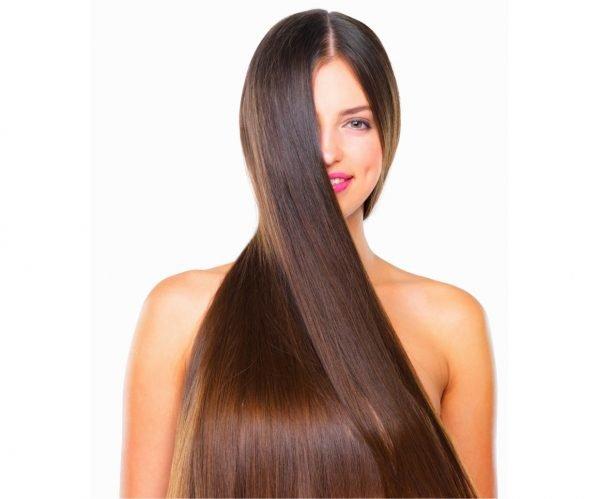 Девушка с нормальным типом волос