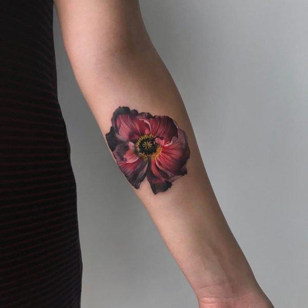Тату цветок 1