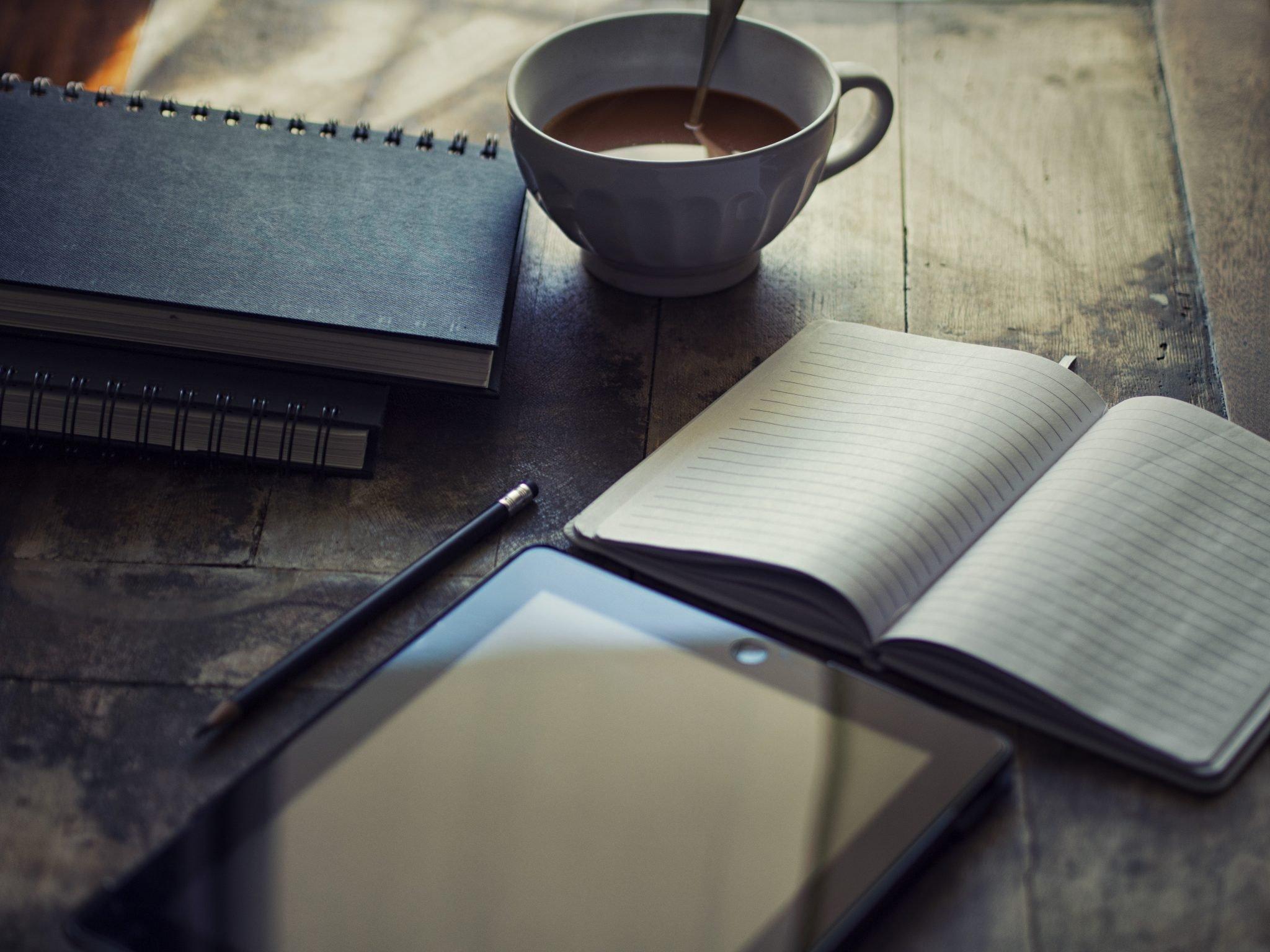 дневник и кофе
