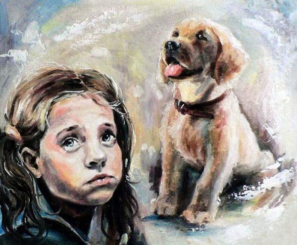 Девочка мечтает о собаке