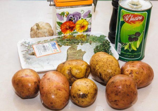 Картофель, чеснок и имин