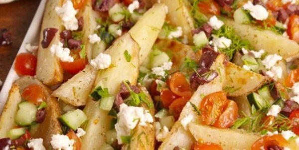 Картофель ломтиками по-гречески