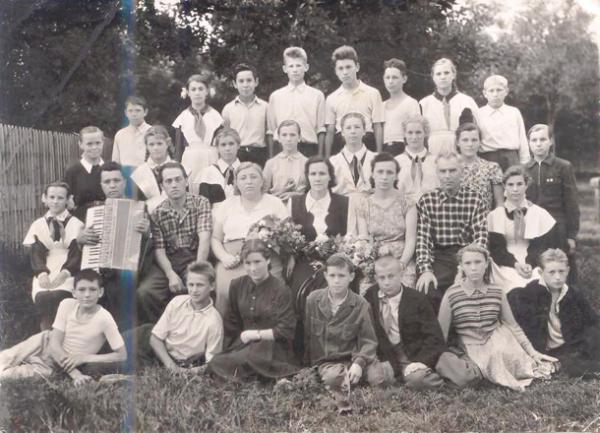 1950-е, выпускное фото