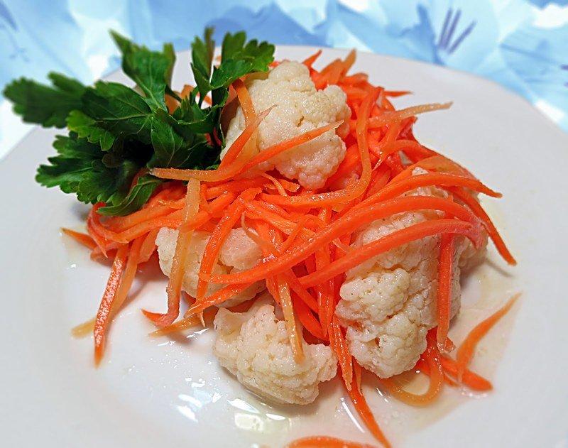 Хрустящая цветная капуста по-корейски - невероятно аппетитная закуска с неповторимым ароматом и отличным вкусом