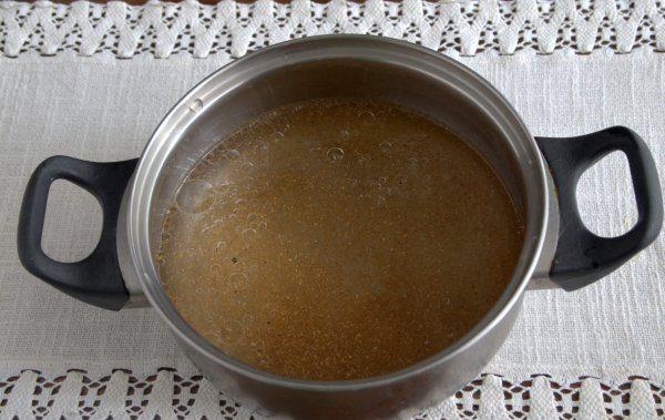 маринад для овощной заготовки на зиму в металлической кастрюле