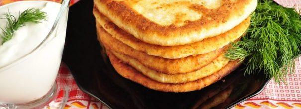 сырные лепёшки за 15 минут