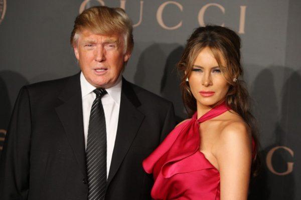 Дональд Трамп и Меланья Кнавс