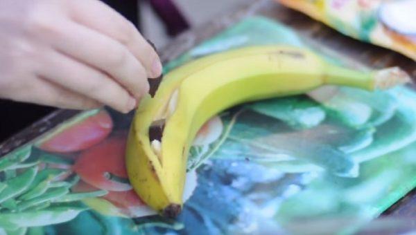 Надрез в банане