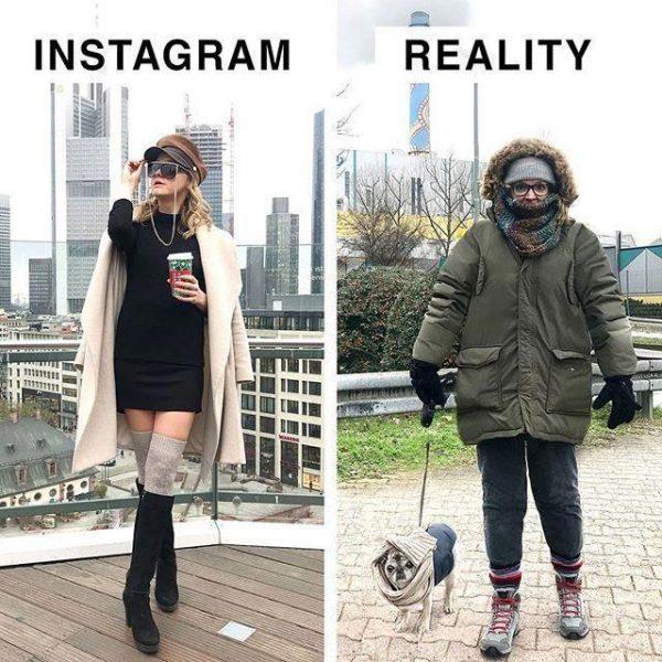 Одежда в Инстаграм и реальности