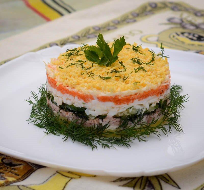 рецепты салатов из печени трески с фотографиями устранив