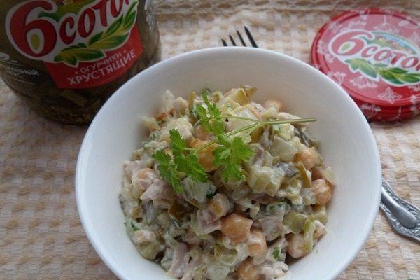 Тарелка с салатом «Сытый муж»