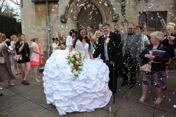 Чересчур пышное свадебное платье