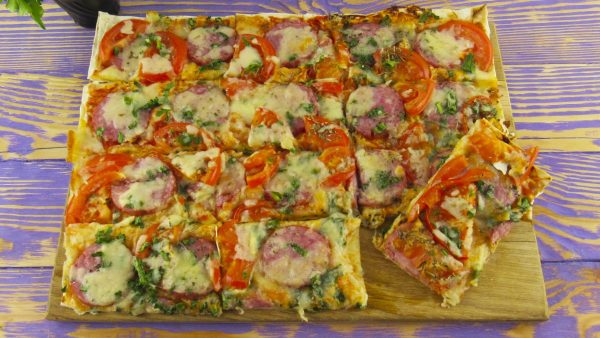 Супербыстрая пицца на лаваше