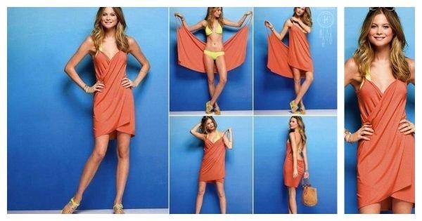 Как надеть пляжное платье