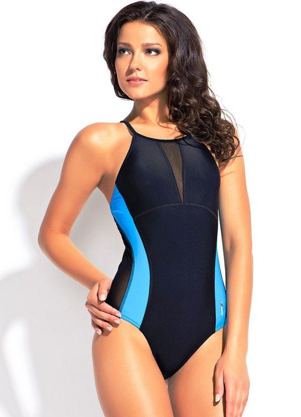 Спортивный купальник с утягивающими вставками