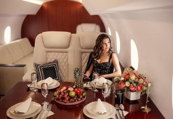 Девушка в частном самолете