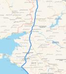Карта федеральной трассы «Дон»