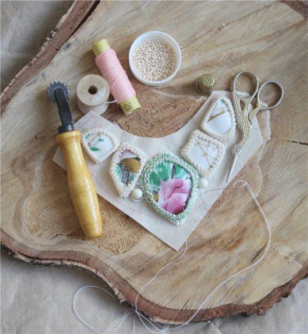 Вышивка бусинами и жемчугом