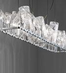 Светильник из хрустальных стаканов