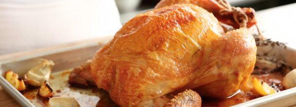 Жаренная в духовка курица