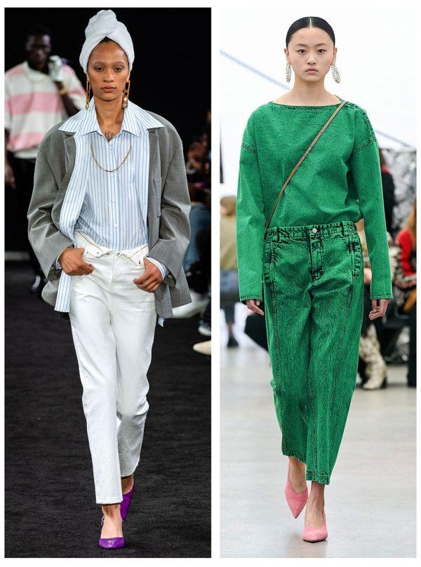 Модные джинсы 2019–2020 — примеры из коллекций Alexander Wang и Rachel Comey