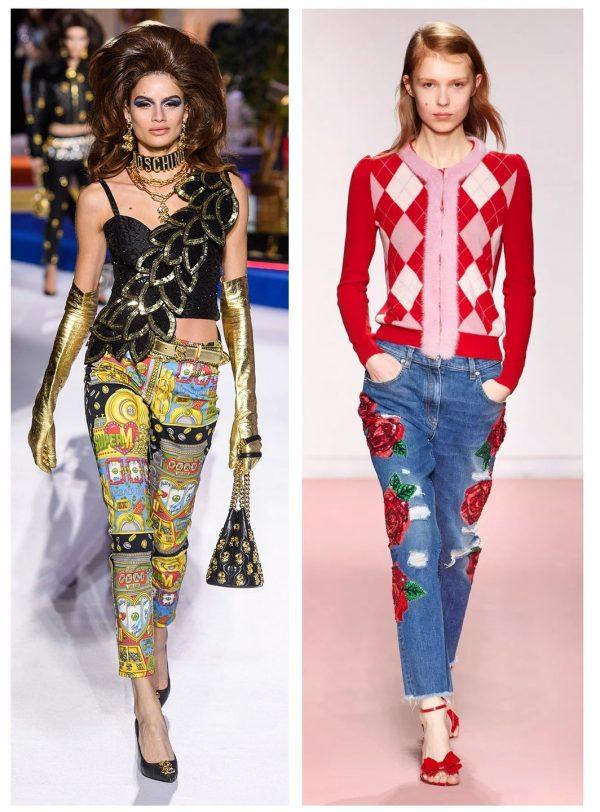 Джинсы показа мод 2019–2020 — Moschino и Blumarine