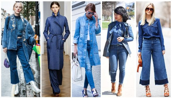 Примеры джинсовых костюмов