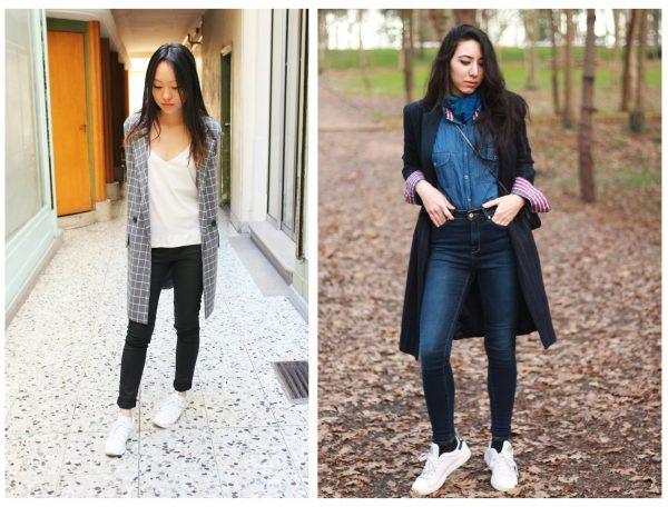 Образы на осень — джинсы скинни