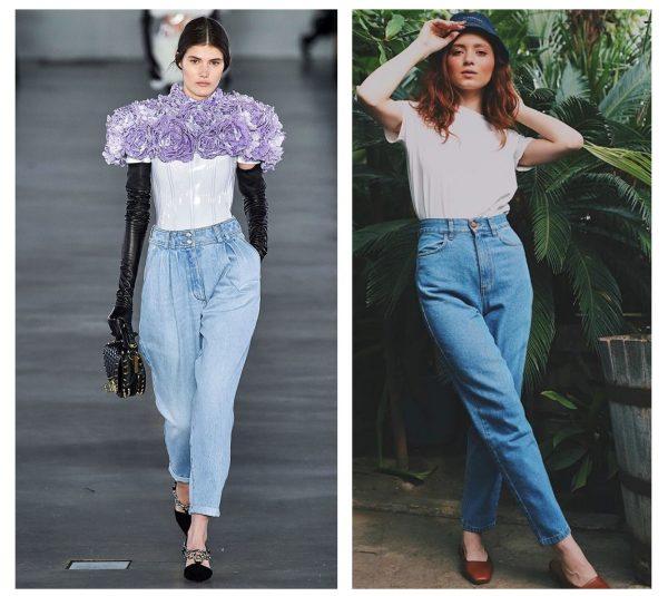 Модные джинсы 2019–2020 — бананы