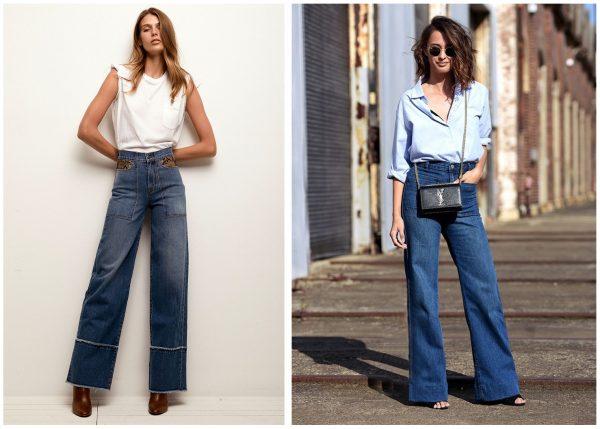 Модные джинсы 2019–2020 — клёш