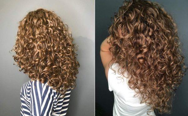 Каскад и вьющиеся волосы
