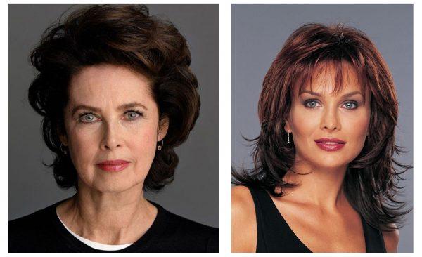 Коричневые оттенки волос после 50 лет