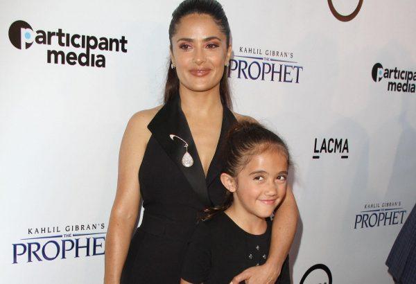 Сальма Хайек с дочкой