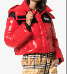 Красная дутая куртка