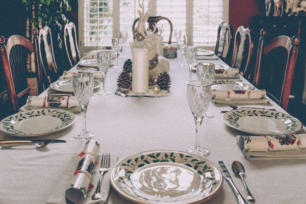 Накрытый стол для приёма