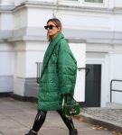Зелёная куртка оверсайз