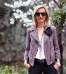Куртка из твида в стиле Chanel