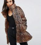 Леопардовый пуховик