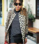Элегантная куртка с леопардовым принтом