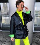 Удлинённая куртка из эко-кожи