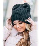 Милая шапка с ушками