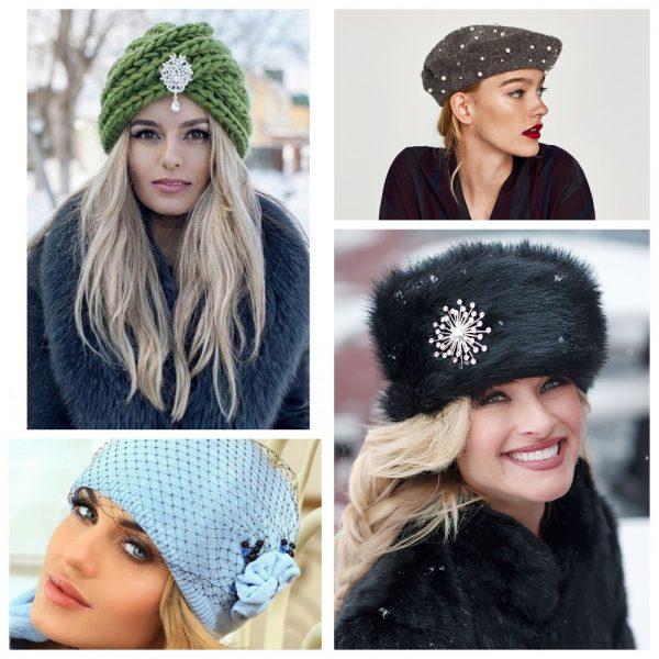 Модная отделка шапок