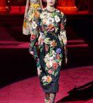 Платье с цветочным принтом от Dolce Gabbana