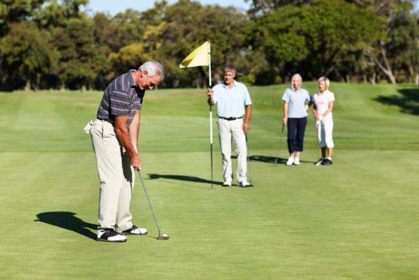 Занятие гольфом