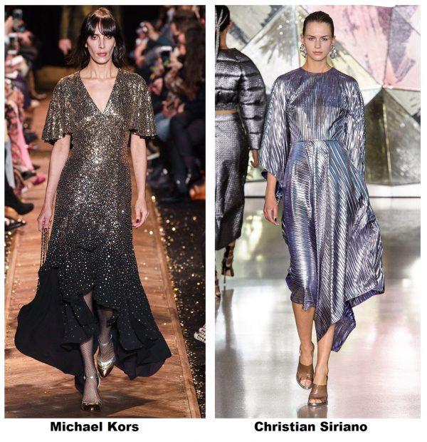 Золотое и серебрянное платье с показа моды 2019–2020