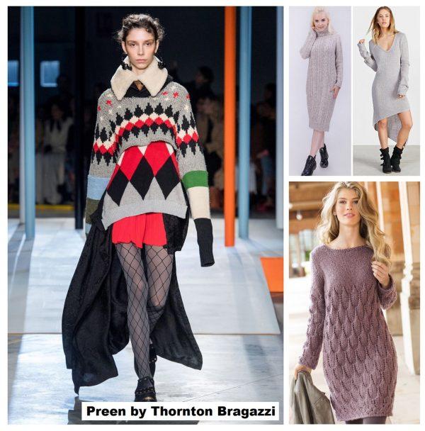Тренд 2019–2020 — вязаные платья