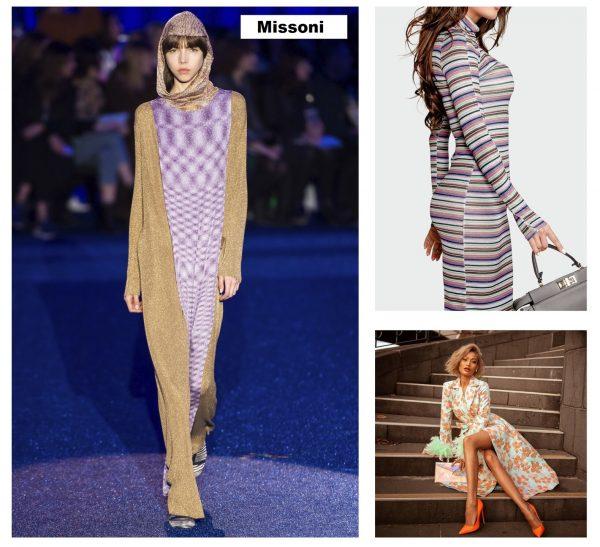 Модные платья с длинным рукавом 2019–2020