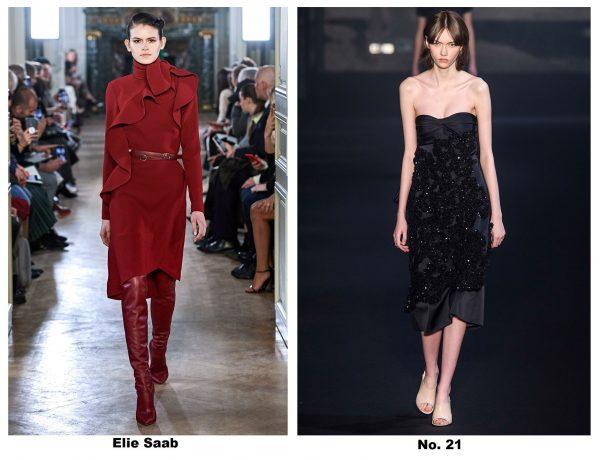 Платья с показов моды 2019–2020, Elie Saab и No.21