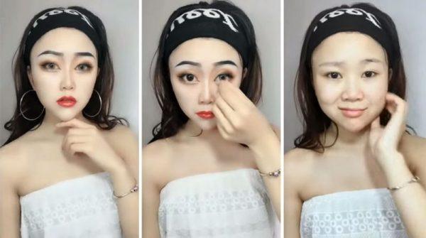 Азиатский чудо-макияж с использованием грима